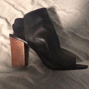 Nine West Black Open Toe/Ankle heels